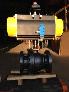 Pneumatic Operated Flanged Ball Valve