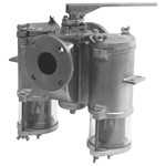 Mueller Steam Specialty Basket Pipe Strainers - Duplex